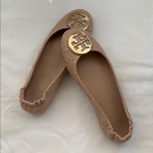 Tory Burch Minnie Travel Ballet Flats - Brand New!